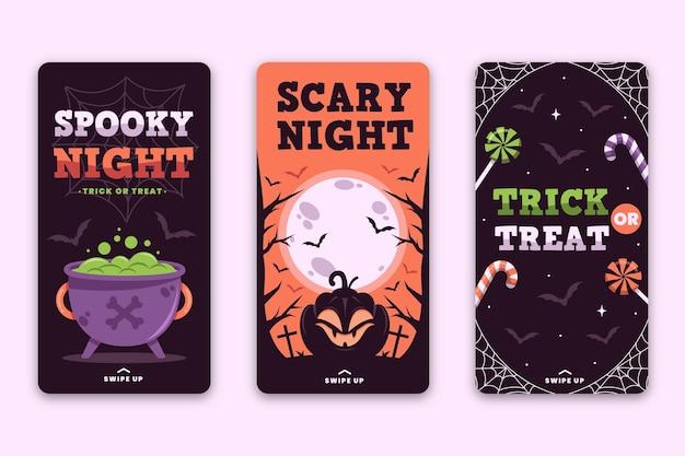Diseño de historias de instagram del festival de halloween