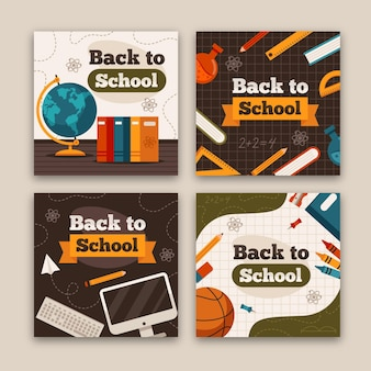Diseño de historias de instagram de regreso a la escuela