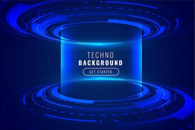 Diseño holográfico de tecnología brillante futurista.