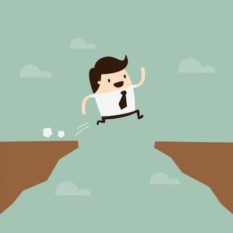 Diseño de hombre saltando