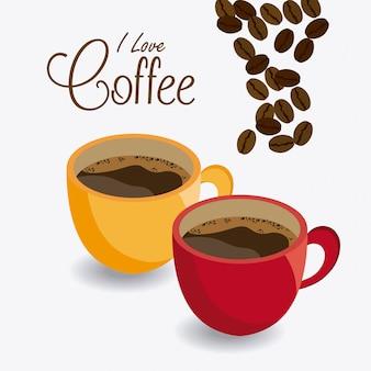 Diseño de la hora del café.