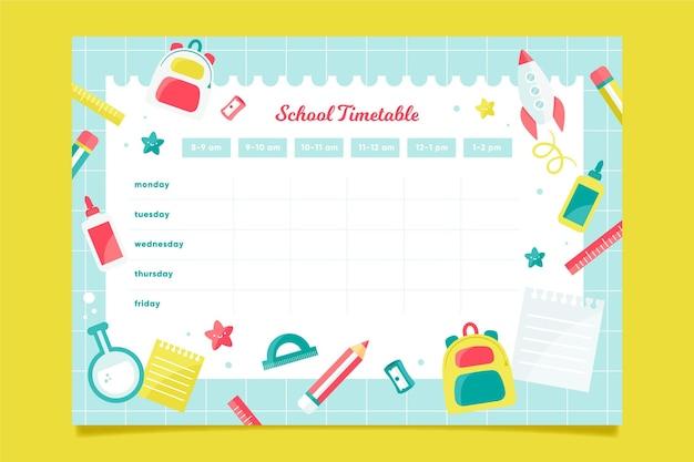 Diseño de horario de regreso a la escuela
