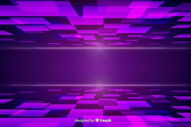 Diseño de horizonte futurista y gradiente.
