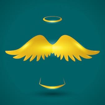 Diseño de icono de angel