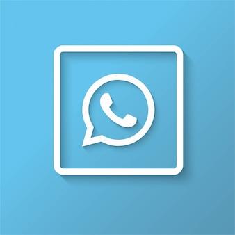 Diseño de icono azul de whatsapp