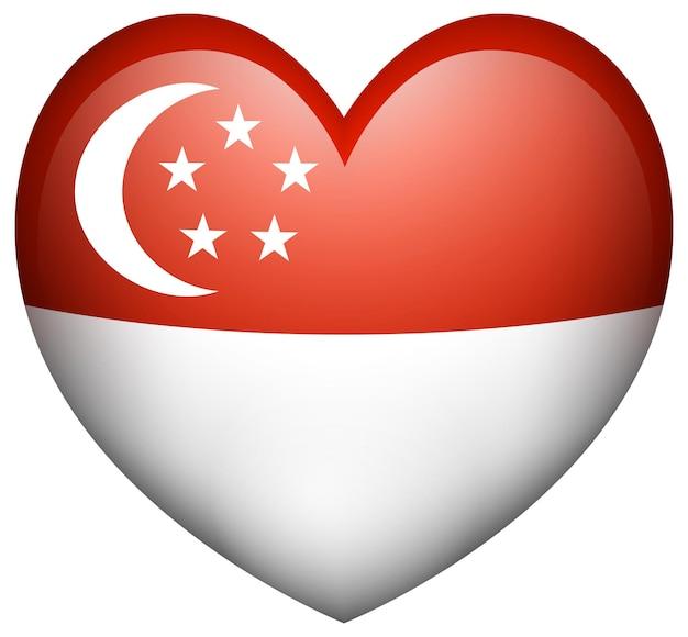 Diseño de icono de bandera para singapur