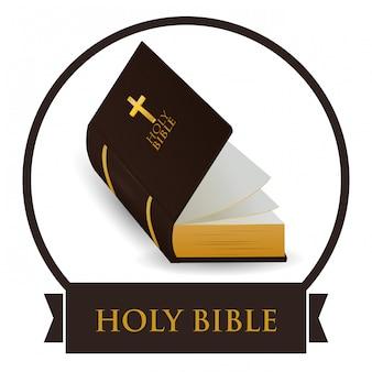 Diseño de icono de la biblia