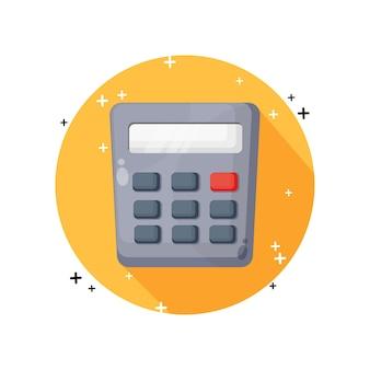 Diseño de icono de calculadora aislado en blanco