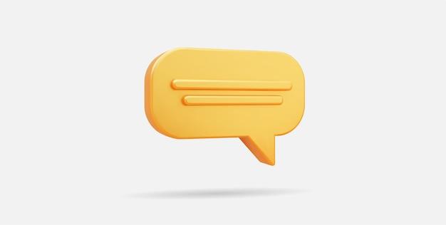 Diseño de icono de chat de oro realista 3d o ilustración de vector de mensaje en línea