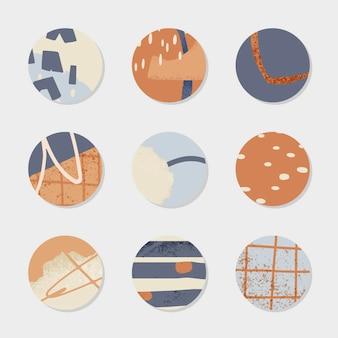 Diseño de icono de colección de historias de instagram