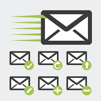 Diseño de icono de correo