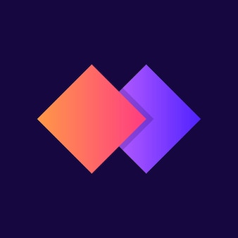 Diseño de icono degradado de logotipo de empresa moderna