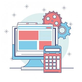 Diseño de icono de dinero y negocios, pago de mercado de comercio financiero invertir y comprar ilustración de vector de tema