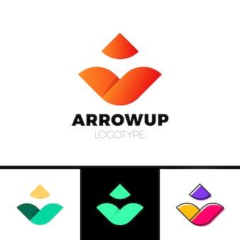 Diseño de icono de flecha abstracta