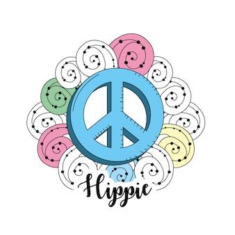 Diseño de icono hippie