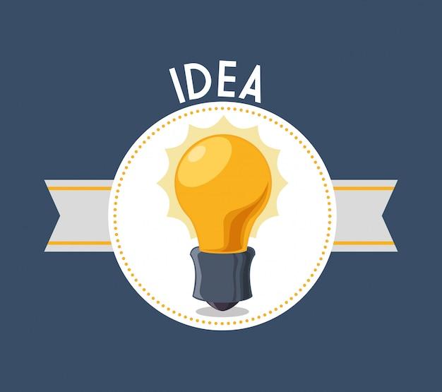 Diseño de icono de idea