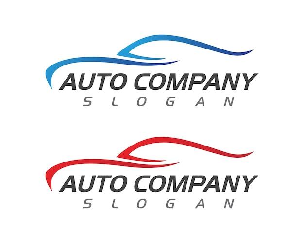 Diseño de icono de ilustración de vector de plantilla de logotipo de coche de velocidad auto