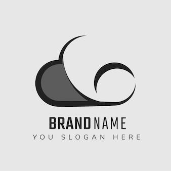 Diseño de icono de lema editable en la nube
