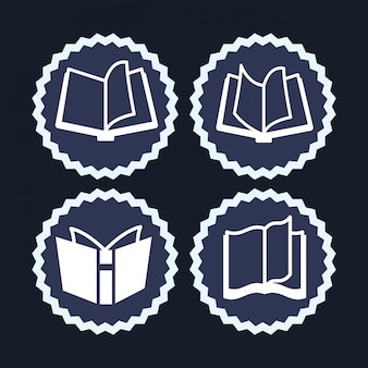 Diseño de icono de libro