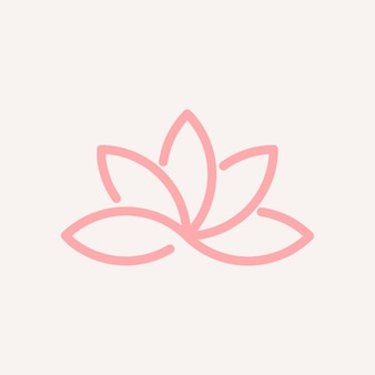 Diseño de icono de loto de logotipo de empresa de spa