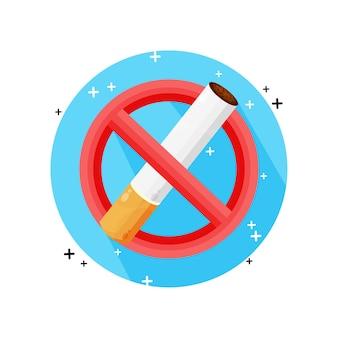 Diseño de icono de no fumar