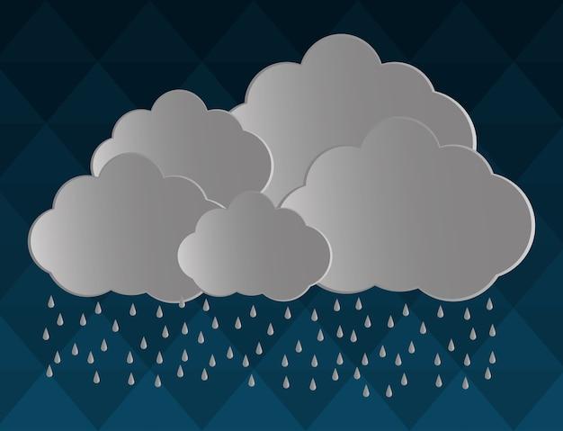 Diseño de icono de nube gris