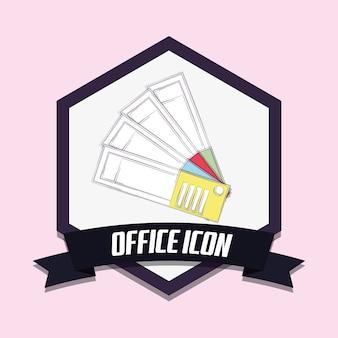Diseño de icono de oficina