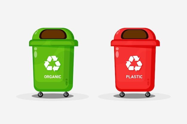 Diseño de icono de papelera de reciclaje