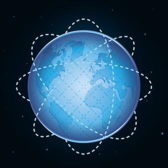 Diseño de icono de planeta