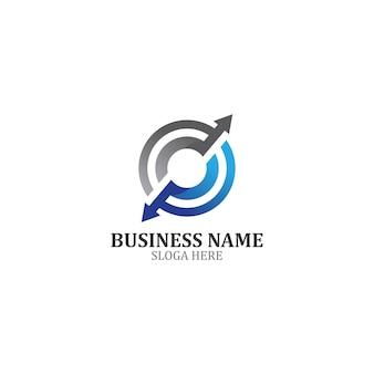 Diseño de icono de plantilla de logotipo de business finance