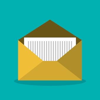 Diseño de icono de sobre de correo electrónico de mensaje