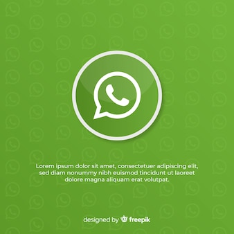 Diseño de icono de whatsapp