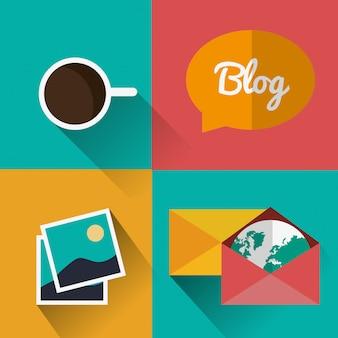 Diseño de iconos de blog