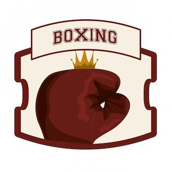 Diseño de iconos de boxeo