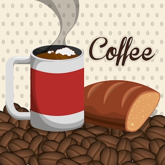 Diseño de iconos de café.