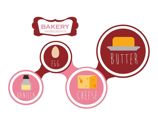 Diseño de iconos de comida y menú.