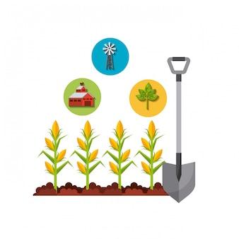 Diseño de iconos de jardinería.