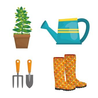 Diseño de iconos de jardinería