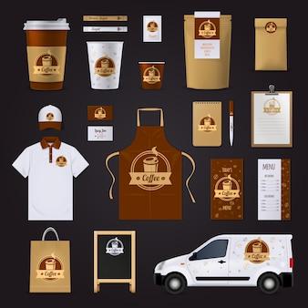 Diseño de identidad corporativa de café.