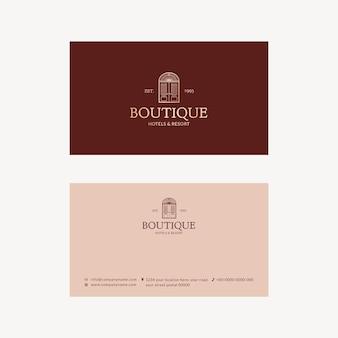 Diseño de identidad corporativa de plantilla de tarjeta de visita editable