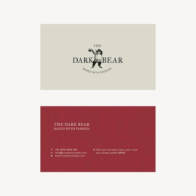 Diseño de identidad corporativa retro plantilla de tarjeta de visita editable