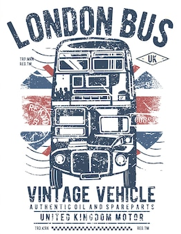 Diseño de ilustración del autobús de londres