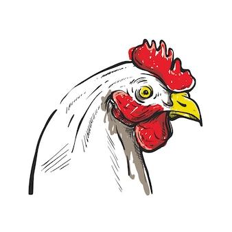 Diseño de ilustración de boceto chikcen