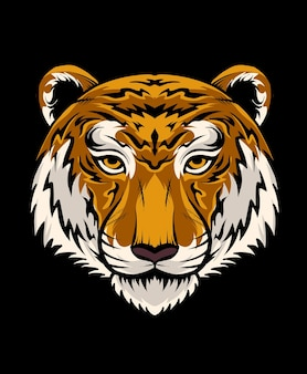 Diseño de ilustración de cabeza de tigre