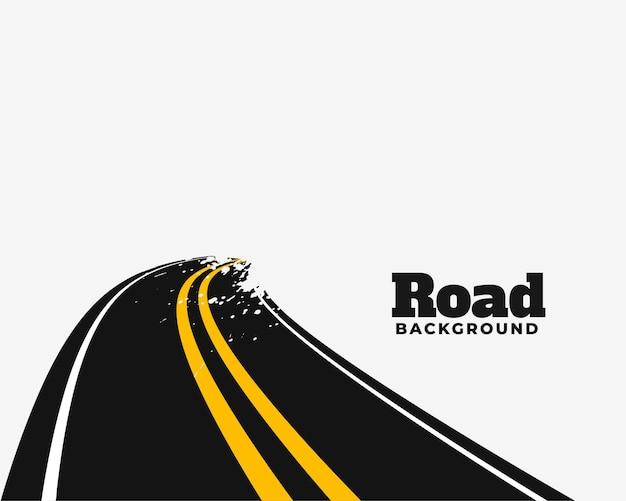 Diseño de ilustración de camino de carretera curva