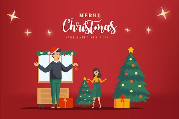 Diseño de ilustración de cartel de navidad de cristianos de navidad