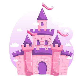 Diseño de ilustración con castillo