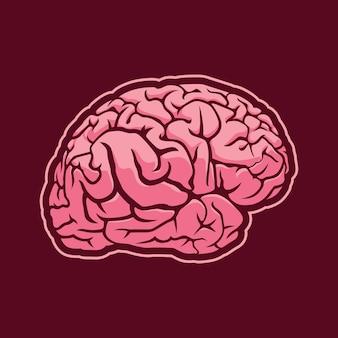 Diseño de ilustración del cerebro