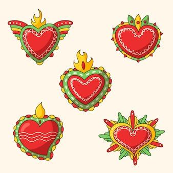 Diseño de ilustración del corazón sagrado