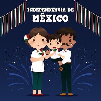 Diseño de ilustración del día de la independencia de méxico
